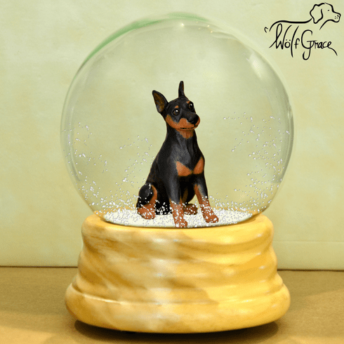 Miniature Pinscher Snow Globe-Min Pin
