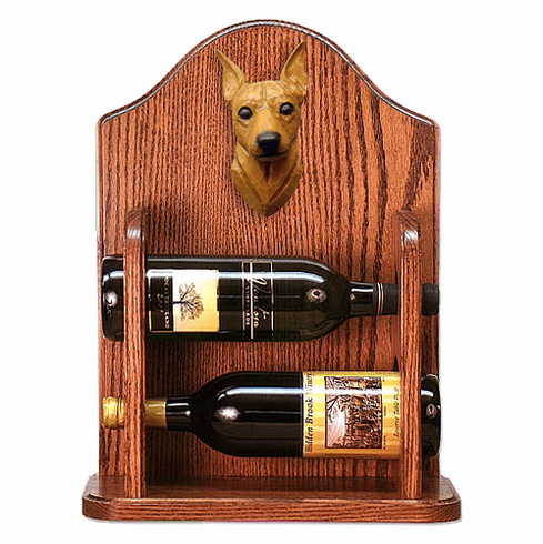 Miniature Pinscher Wine Rack -Red