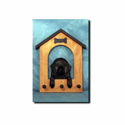 Newfoundland Dog House Leash Holder