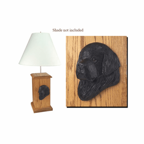Newfoundland Wood Carved Table Lamp