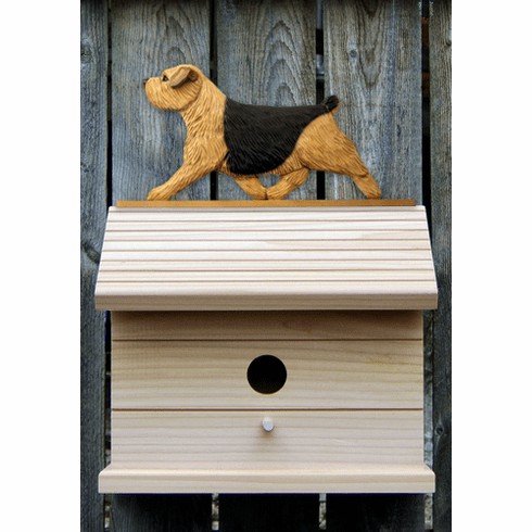 Norfolk Terrier Bird House- Black & Tan