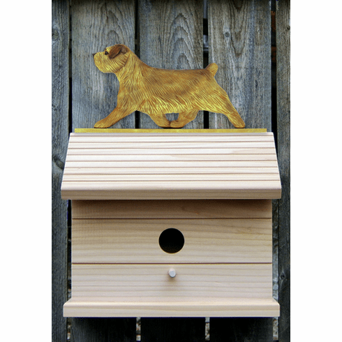 Norfolk Terrier Bird House-Grizzle