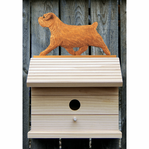 Norfolk Terrier Bird House-Red