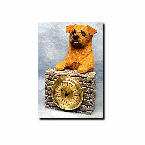Norfolk Terrier Mantle Clock