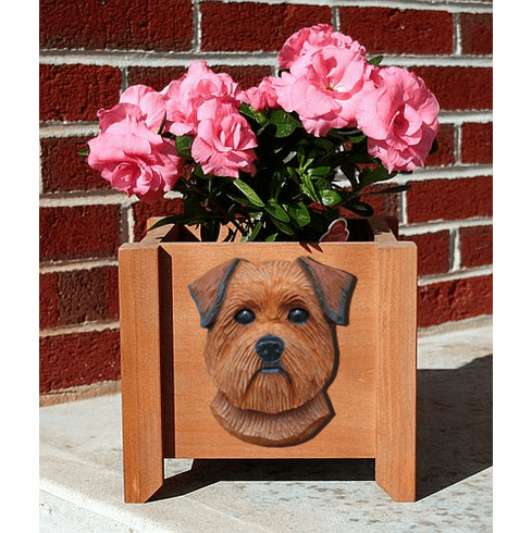 Norfolk Terrier Planter Box