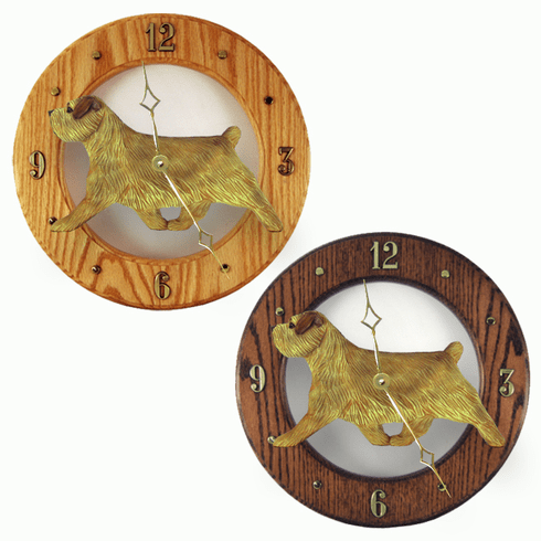 Norfolk Terrier Wall Clock-Grizzle