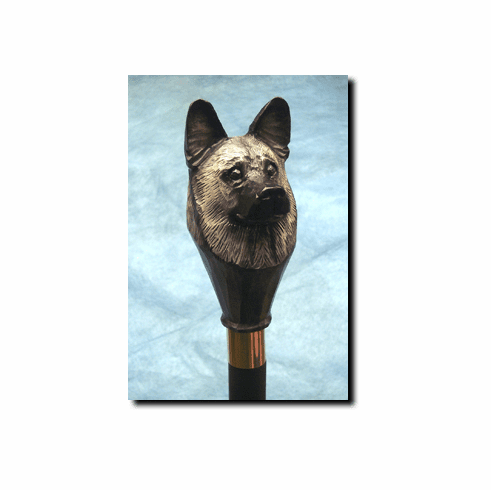 Norwegian Elkhound Walking Stick, Hiking Staff