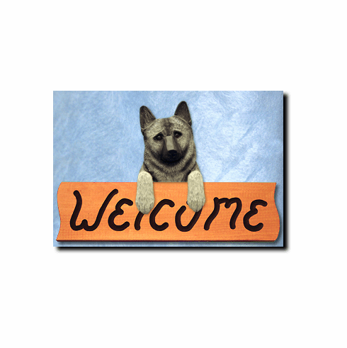 Norwegian Elkhound Welcome Sign
