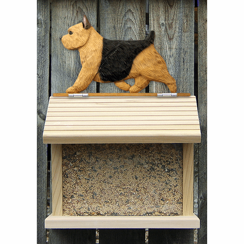 Norwich Terrier Bird Feeder-Black/Tan