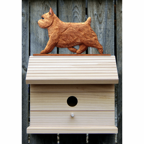 Norwich Terrier Bird House-Red