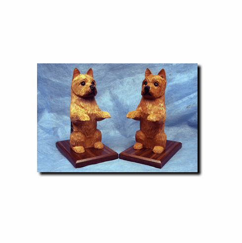 Norwich Terrier Bookends