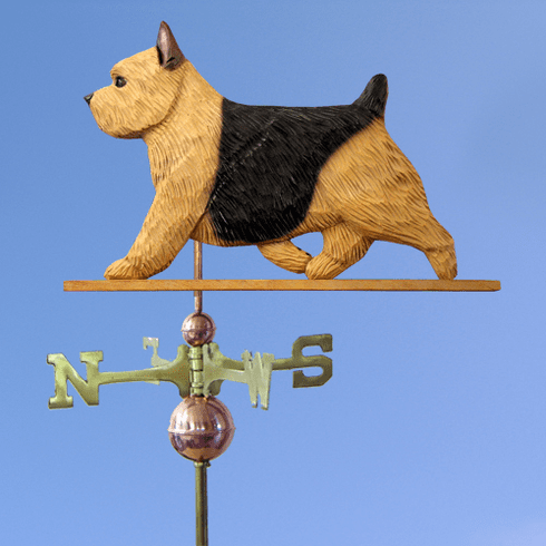 Norwich Terrier Weathervane-Black &Tan