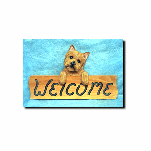 Norwich Terrier Welcome Sign
