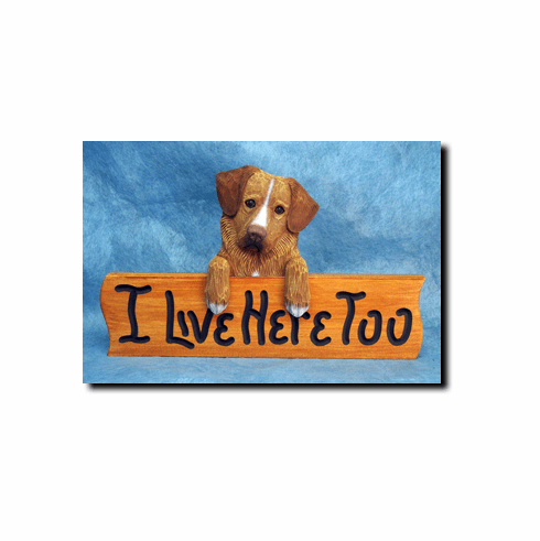 Nova Scotia Duck Tolling Retriever I Live Here Too Sign