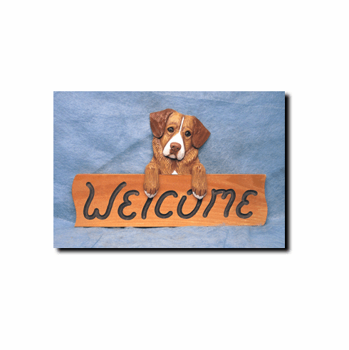 Nova Scotia Duck Tolling Retriever Welcome Sign