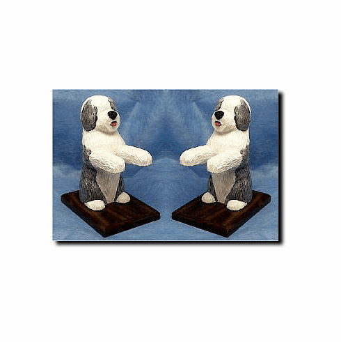 Old English Sheepdog Bookends