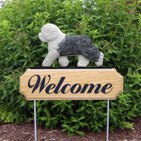 Old English Sheepdog DIG Welcome Stake-Standard
