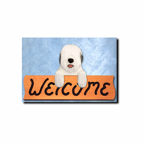 Old English Sheepdog Welcome Sign