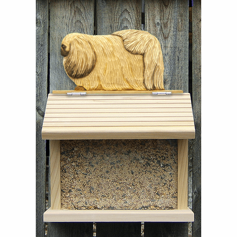 Pekingese Bird Feeder-Fawn