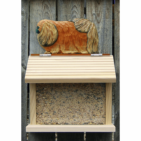 Pekingese Bird Feeder-Red