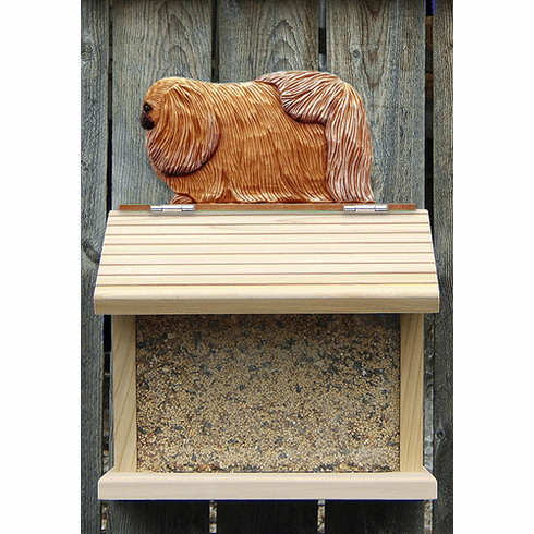 Pekingese Bird Feeder-Sable