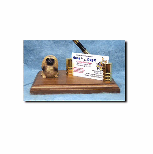Pekingese Deluxe Desk Set
