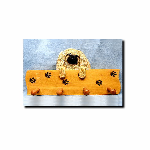Pekingese Dog Four-Peg Hang Up