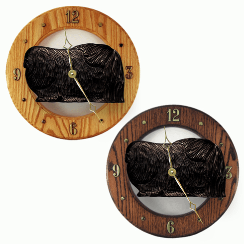 Pekingese Wall Clock-Black