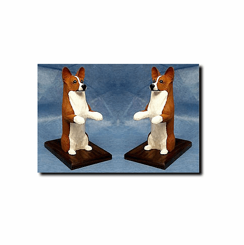 Pembroke Welsh Corgi Bookends
