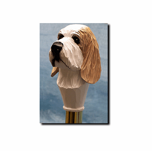 Petite Basset Griffon Vendeen Walking Stick, Hiking Staff