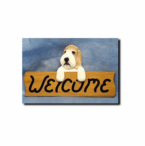Petite Basset Griffon Vendeen Welcome Sign