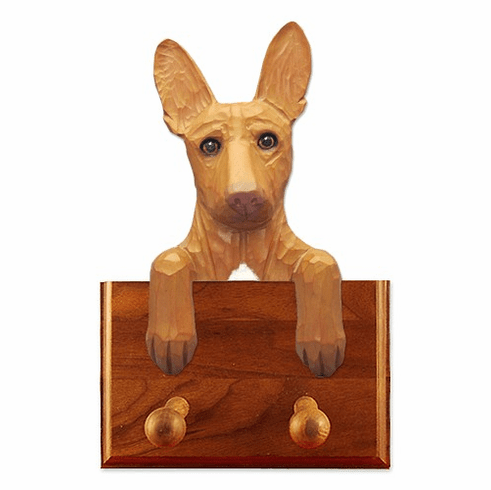 Pharaoh Hound Walnut Dog Leash Holder