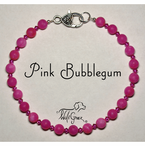 <b>Pink Bubblegum Necklace for Dogs <br>(Matching Human Necklace Available!)</b>