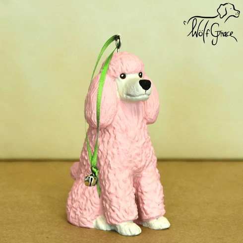 Pink Poodle 3-Dimenional Christmas Ornament