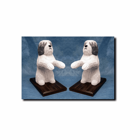 Polish Lowland Sheepdog Bookends