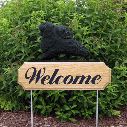 Pomeranian DIG Welcome Stake-Black