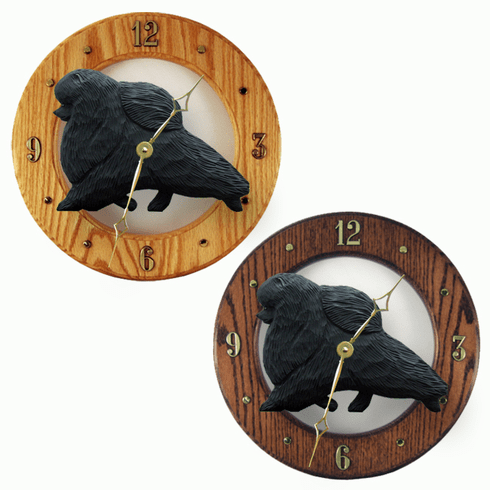Pomeranian Wall Clock-Black