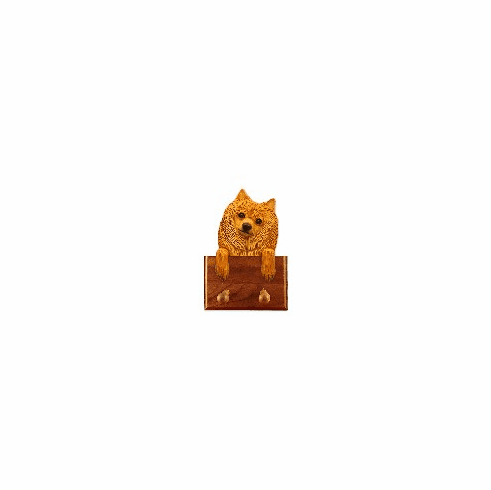 Pomeranian Walnut Dog Leash Holder