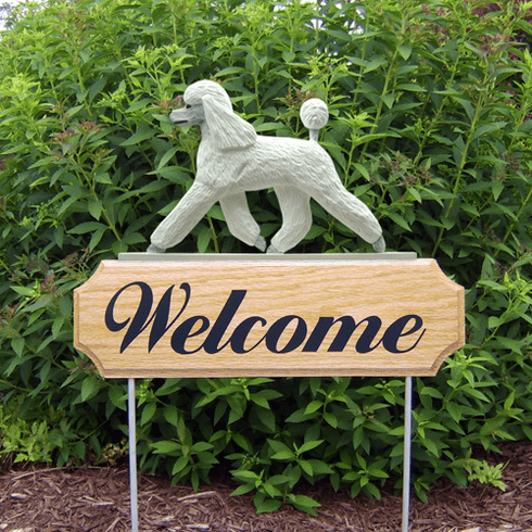 Poodle DIG Welcome Stake-White