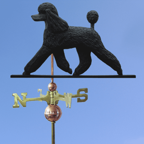 Poodle Weathervane-Black