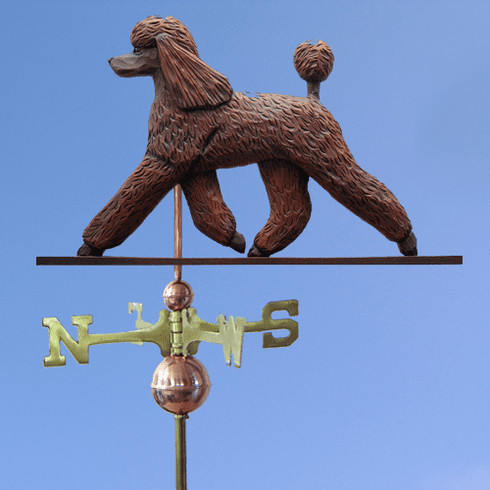 Poodle Weathervane-Brown