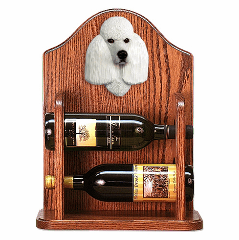 Poodle Wine Rack -White