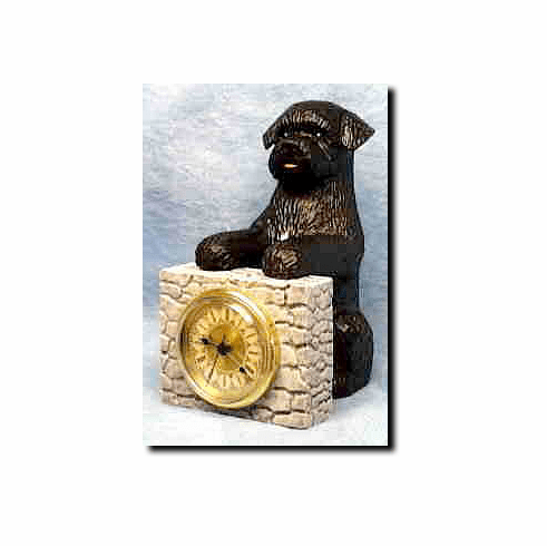 Portugese Water Dog Mantle Clock