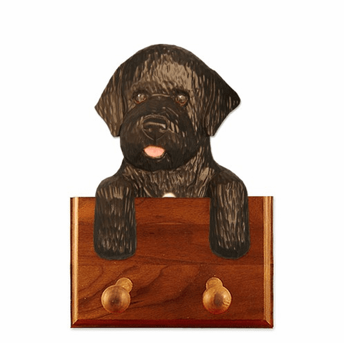 Portuguese Water Dog Walnut Dog Leash Holder