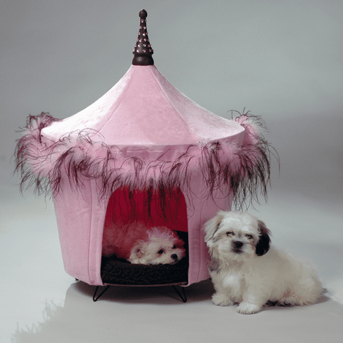 Posh and Pink Pet Tent Dog Bed