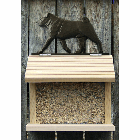 Pug Bird Feeder-Black