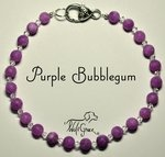 <b>Purple Bubblegum Necklace for Dogs <br>(Matching Human Necklace Available!)</b>