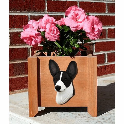 Rat Terrier Planter Box
