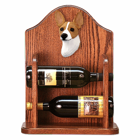 Rat Terrier Wine Rack -Red