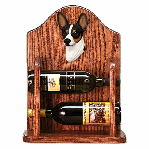 Rat Terrier Wine Rack -Tri